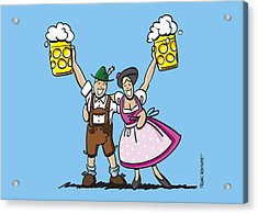 Happy Oktoberfest Couple Beer Acrylic Print