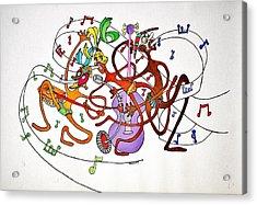 Happy People Trio Acrylic Print by Glenn Calloway