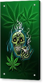 Happy Pot Head Acrylic Print