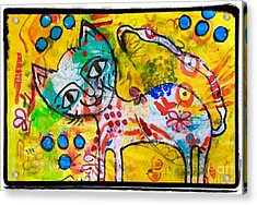 Happy Pussycat Acrylic Print
