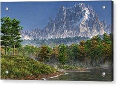 Happy River Valley Acrylic Print by Daniel Eskridge
