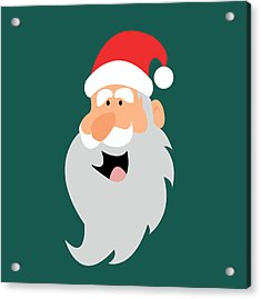 Happy Santa Acrylic Print by Kenneth Feliciano