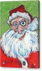 happy Santa Acrylic Print
