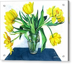Happy Spring Acrylic Print by Barbara Jewell