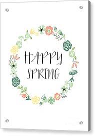 Happy Spring  Acrylic Print by Natalie Skywalker
