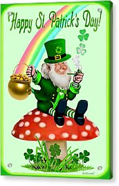 Happy St. Patrick's Day Acrylic Print