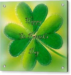 Happy St. Patrick's Day Acrylic Print by The Creative Minds Art and Photography