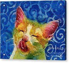 Happy Sunbathing Acrylic Print by Hailey E Herrera