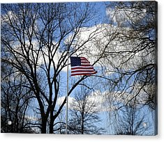 Happy Thanksgiving America Acrylic Print by Kate Gallagher
