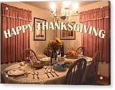 Happy Thanksgiving Card Acrylic Print