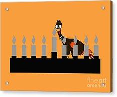 Happy Thanksgivukkah Menorah Acrylic Print