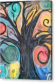 Happy Tree Acrylic Print by Sarah Dufner
