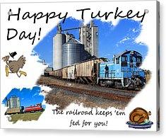 Happy Turkey Day Acrylic Print by Joseph C Hinson Photography
