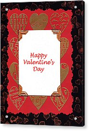 Acrylic Print featuring the photograph Happy Valentines Day Card by Vizual Studio