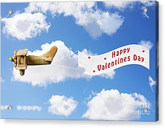 Happy Valentines Day Acrylic Print by Amanda Elwell
