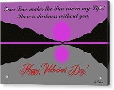 Happy Valentine's Day Acrylic Print by George Pedro