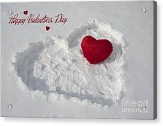 Happy Valentins Days Acrylic Print by Nicole Markmann Nelson