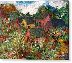 Happy Village Acrylic Print by Deborah Montana