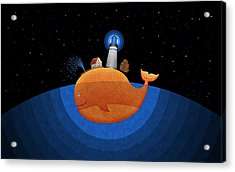Happy Whale House Acrylic Print by Gianfranco Weiss