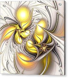 Happy Yellow Acrylic Print by Anastasiya Malakhova