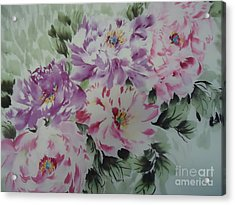 Acrylic Print featuring the painting Happyflower427012-1 by Dongling Sun