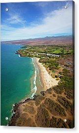 Hapuna Beach Prince Hotel, Mauna Kea Acrylic Print