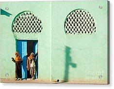 Harar Ethiopia Old Town City Mosque Girls Children Acrylic Print