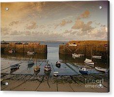 Harbor At Dusk Acrylic Print by Pixel Chimp