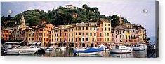 Harbor Houses Portofino Italy Acrylic Print by Panoramic Images