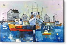 Harbor In The Maine Acrylic Print