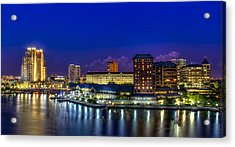 Harbor Island Nightlights Acrylic Print by Marvin Spates
