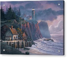 Acrylic Print featuring the painting Harbor Light Hideaway by Michael Humphries