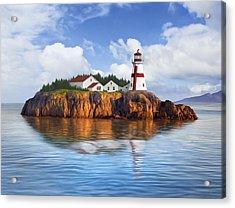 Harbor Light Acrylic Print by James Charles