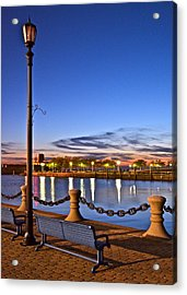 Harbor Lights Acrylic Print by Frozen in Time Fine Art Photography