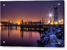 Acrylic Print featuring the photograph Harbor Moods by Maddalena McDonald