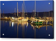 Harbor Nights Acrylic Print by Frozen in Time Fine Art Photography