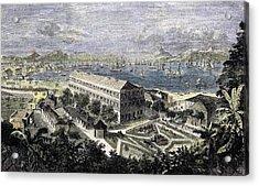 Harbor Of Hong Kong Acrylic Print by English School
