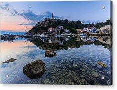 Harbor Reflection Acrylic Print by Davorin Mance