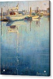 Harbor Reflection Acrylic Print by Sharon Weaver