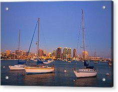 Harbor Sailboats Acrylic Print by Peter Tellone
