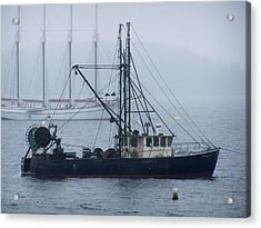 Acrylic Print featuring the photograph Harbor Ships by Gene Cyr