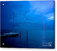 Harbor Storm Acrylic Print by Mark Miller