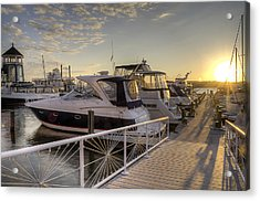 Harbor Sunrise Acrylic Print by Michael Donahue