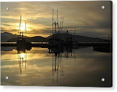 Acrylic Print featuring the photograph Harbor Sunset by Cathy Mahnke