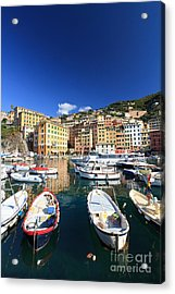 Acrylic Print featuring the photograph Harbor With Fishing Boats by Antonio Scarpi