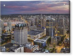 Harbour Center Lookout Vancouver Bc Acrylic Print by David Gn