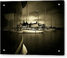 Acrylic Print featuring the photograph Harbour Life by Micki Findlay