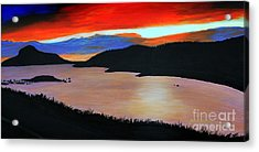 Harbour Sunset Acrylic Print by Barbara Griffin