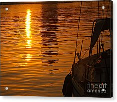 Harbour Sunset Acrylic Print by Clare Bevan