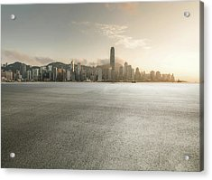 Harbour Acrylic Print by Yubo